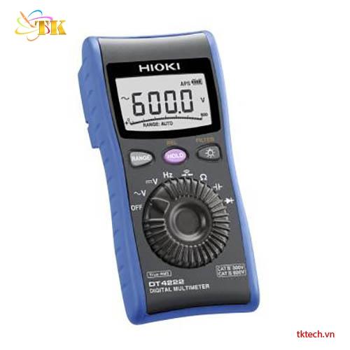 Đồng hồ vạn năng Hioki DT4222:AC V. CAT IV 300 V, CAT III 600 V.
