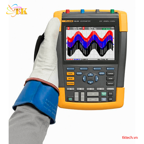 Máy hiện sóng Fluke 190-204/S Portable Digital Oscilloscope, Dao động ký