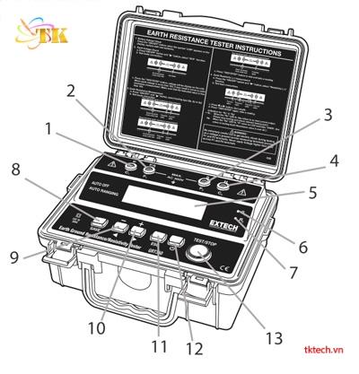 Chức năng Máy đo điện trở đất Extech GRT350