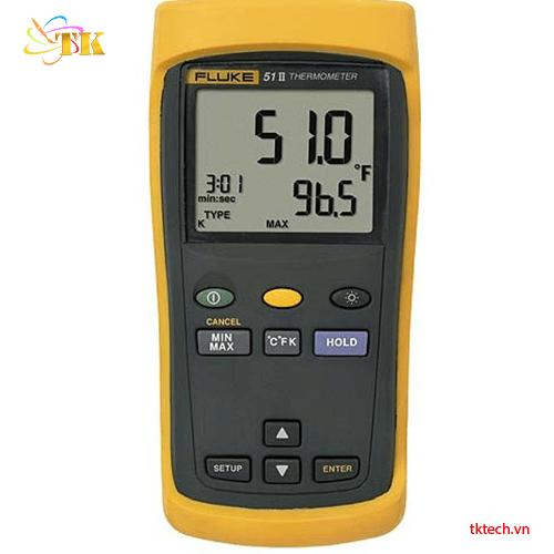 Máy đo nhiệt độ Fluke 51 II, nhiệt kế tự ghi 1 đầu vào Fluke 51-2
