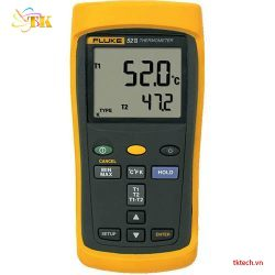 Máy đo nhiệt độ Fluke 52 II, nhiệt kế 2 đầu vào Fluke 52-2 | TKTECH.VN