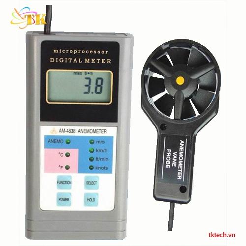 Máy đo tốc độ gió Huatec AM-4838