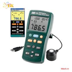 Máy đo năng lượng mặt trời ghi dữ liệu Tes 132
