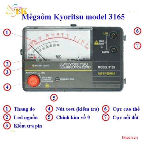Hướng dẫn sử dụng máy đo điện trở cách điện Kyoritsu 3165