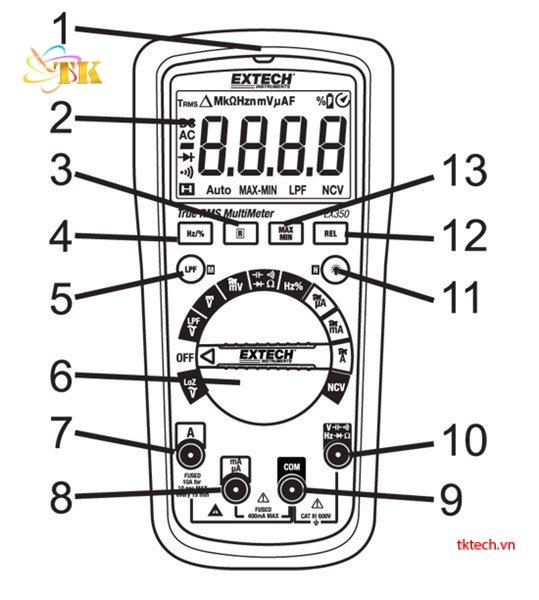 Hướng dẫn sử dụng đồng hồ vạn năng Extech EX355