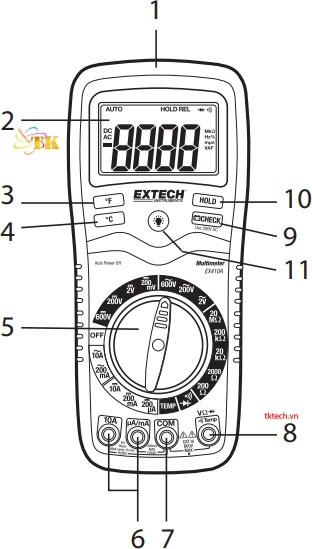 Hướng dẫn sử dụng đồng hồ vạn năngExtech EX410A