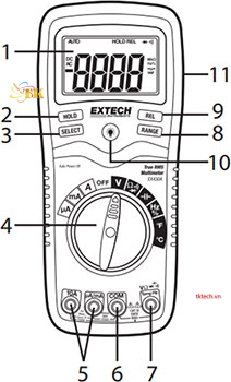 Hướng dẫn sử dụng đồng hồ vạn năng Extech EX430A