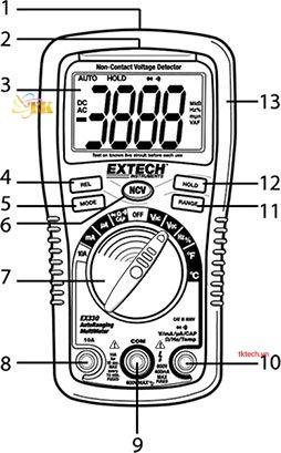 Hướng dẫn sử dụng đồng hồ vạn năng Extech EX320