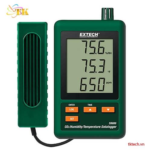 Bộ ghi nhiệt độ độ ẩm CO2 Extech SD800