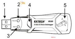 Hướng dẫn cách sử dụngUSB ghi độ rung Extech VB300:#
