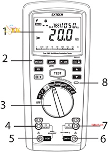 Hướng dẫn sử dụngĐồng hồ vạn năng Extech MG320