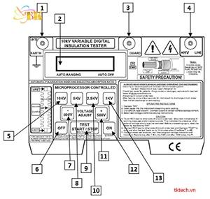 Hướng dẫn sử dụng máy đo điện trở cách điện Extech MG500