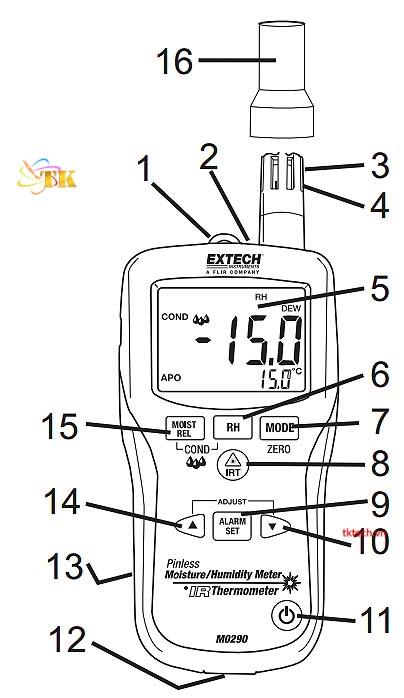 Hướng dẫn sử dụng máy đo độ ẩmExtech MO297