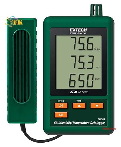 Máy ghi nhiệt độ độ ẩm CO2 Extech SD800