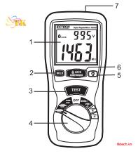 Hướng dẫn sử dụng đồng hồ đo điện trở cách điện Extech 380260