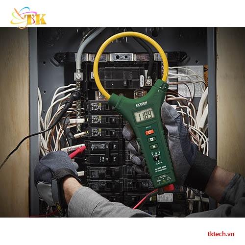 Ampe kìm Extech MA3110 đo thử