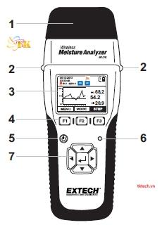 Cảm biến độ ẩm không dây Extech MO270-X