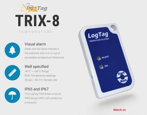 Tính năng Nhiệt kế tự ghi LogTag TRIX-8