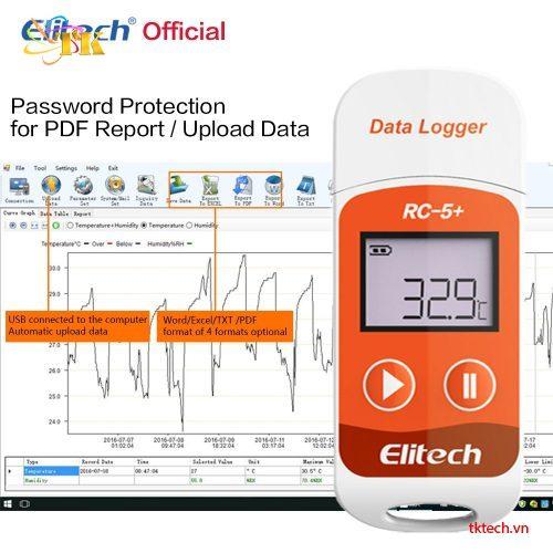 Nhiệt kế tự ghi Elitech RC-5+ phân tích