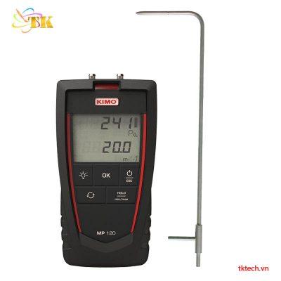 Máy đo áp suất chêch lệch, đo tốc độ gió KIMO MP120