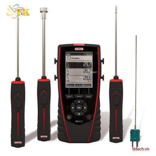 Máy đo nhiệt độ đa kênh Kimo TM210