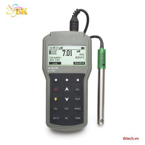 Máy đo pH, ORP, nhiệt độ Hanna HI98190