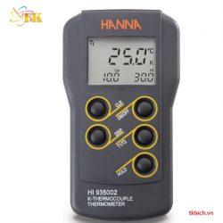 Máy đo nhiệt độ đôi kiểu K Hanna HI935002