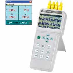 Máy đo ghi nhiệt độ 4 kênh TES-1384
