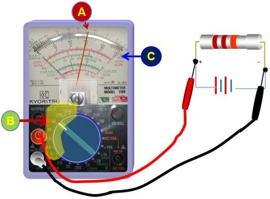 Cách đo điện áp với đồng hồ vạn năng DC