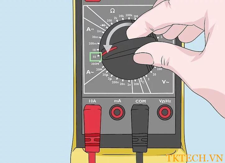 Cách sử dụng đồng hồ vạn năng đo dòng điện 2