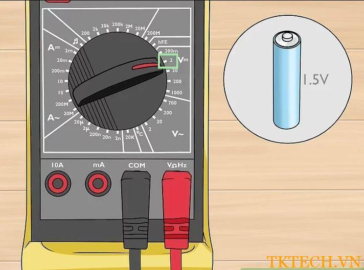Cách sử dụng đồng hồ vạn năng đo điện áp 1