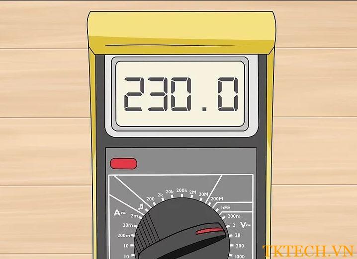 Cách sử dụng đồng hồ vạn năng đo điện áp 4