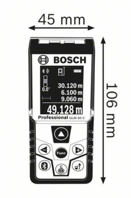 Kích thước Máy đo khoảng cách Bosch GLM 50 C