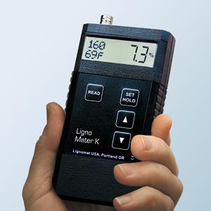 Trên tay Máy đo độ ẩm gỗ Lignometer K
