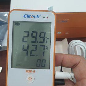 Cách sử dụng nhiệt kế tự ghi Elitech GSP-6 bước 2