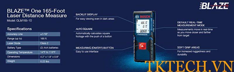 Thông số Bosch 165-10