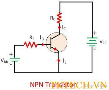 Sơ đồ mạch của Transistor NPN