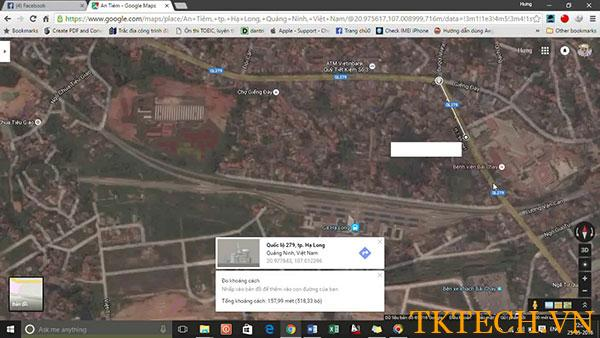 Hướng dẫn đo khoảng cách trên google map bằng máy tính, iphone, Androi