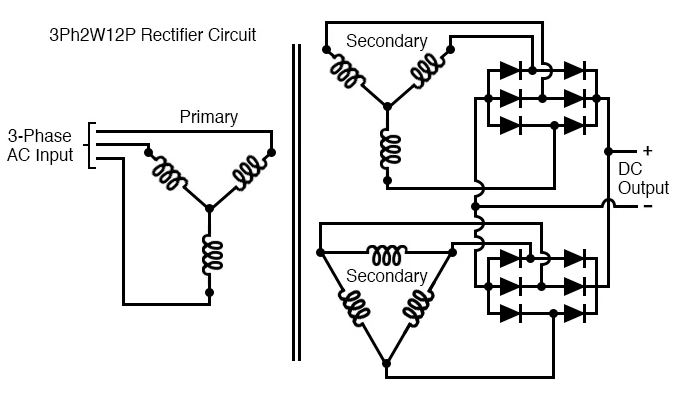 Mạch chỉnh lưu polyphase: 3 pha 2 chiều 12 xung (3Ph2W12P)
