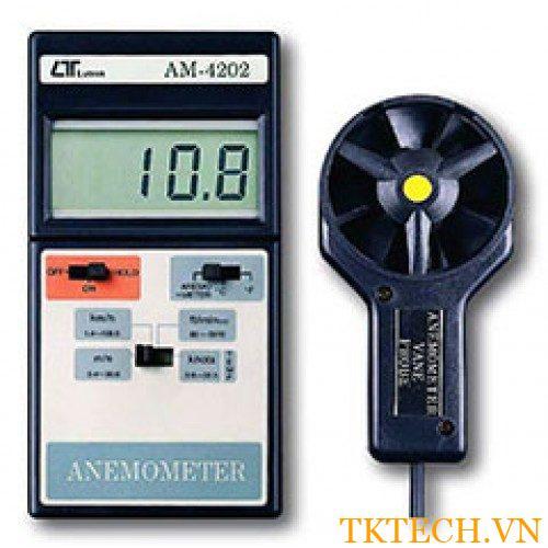 Máy đo tốc độ gió, nhiệt độ Lutron AM-4202