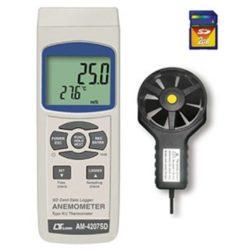Máy đo tốc độ gió, lưu lượng gió, độ ẩm, nhiệt độ Lutron AM-4207SD