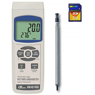 Máy đo tốc độ gió, nhiệt độ Lutron AM-4214SD