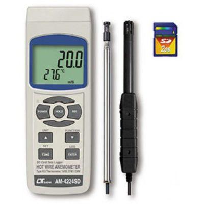 Máy đo tốc độ gió, lưu lượng gió, độ ẩm, nhiệt độ Lutron AM-4224SD