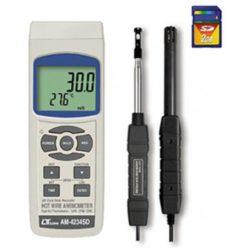 Máy đo tốc độ gió, lưu lượng gió, độ ẩm, nhiệt độ Lutron AM-4234SD