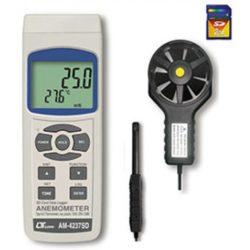 Máy đo tốc độ gió, lưu lượng gió, nhiệt độ Lutron AM-4237SD