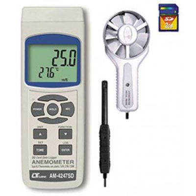 Máy đo tốc độ gió, lưu lượng gió, độ ẩm, nhiệt độ Lutron AM-4247SD