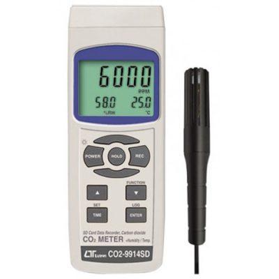 Máy đo nhiệt độ, độ ẩm và nồng độ CO2 Lutron CO2-9914SD