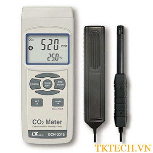 Máy đo nhiệt độ, độ ẩm và nồng độ CO2 Lutron GCH-2018