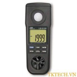 Máy đo tốc độ gió, ánh sáng, độ ẩm, nhiệt độ môi trường Lutron LM-8000