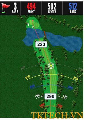 Ứng dụng Đồng hồ hiển thị khoảng cách chơi golf Bushnell Excel GPS